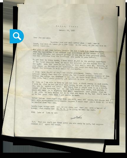 Joe Albertson Letters